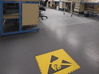 ESD Floor Tiles PVC Static Dissipative And Conductive Flooring - Esd flooring cost